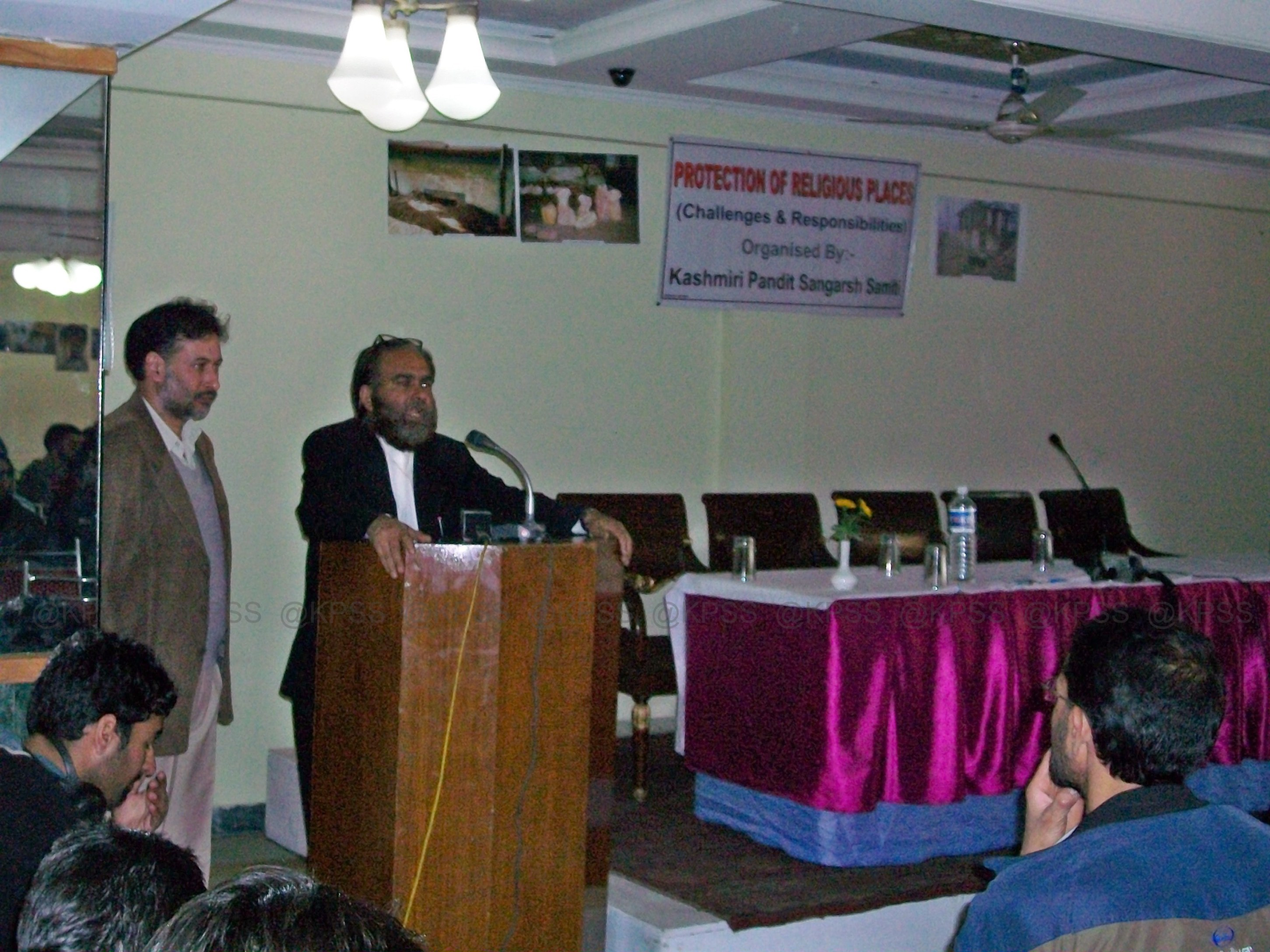 Year 2009 - KPSS - Seminar in Kashmir - Protection of Religious Places